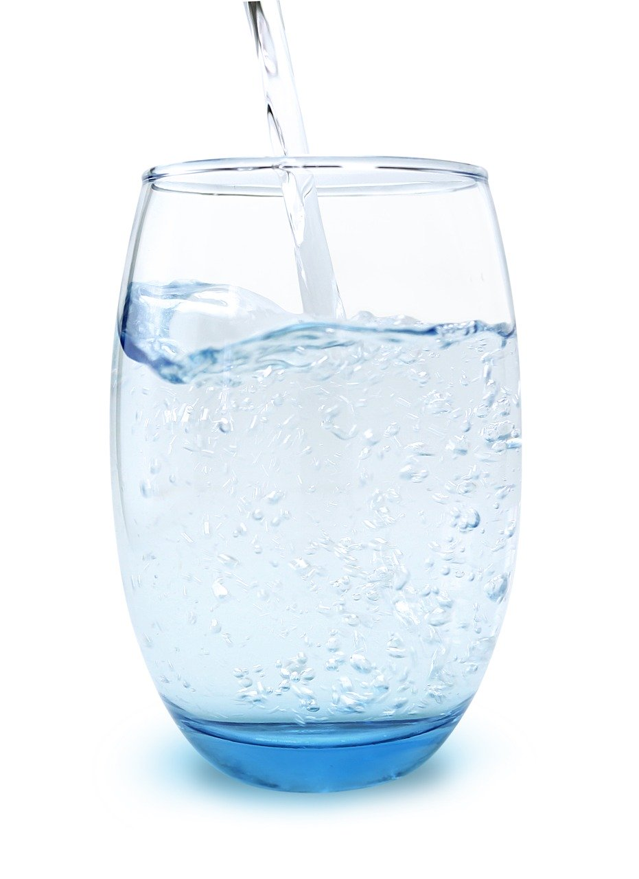 glass of water, water, glass